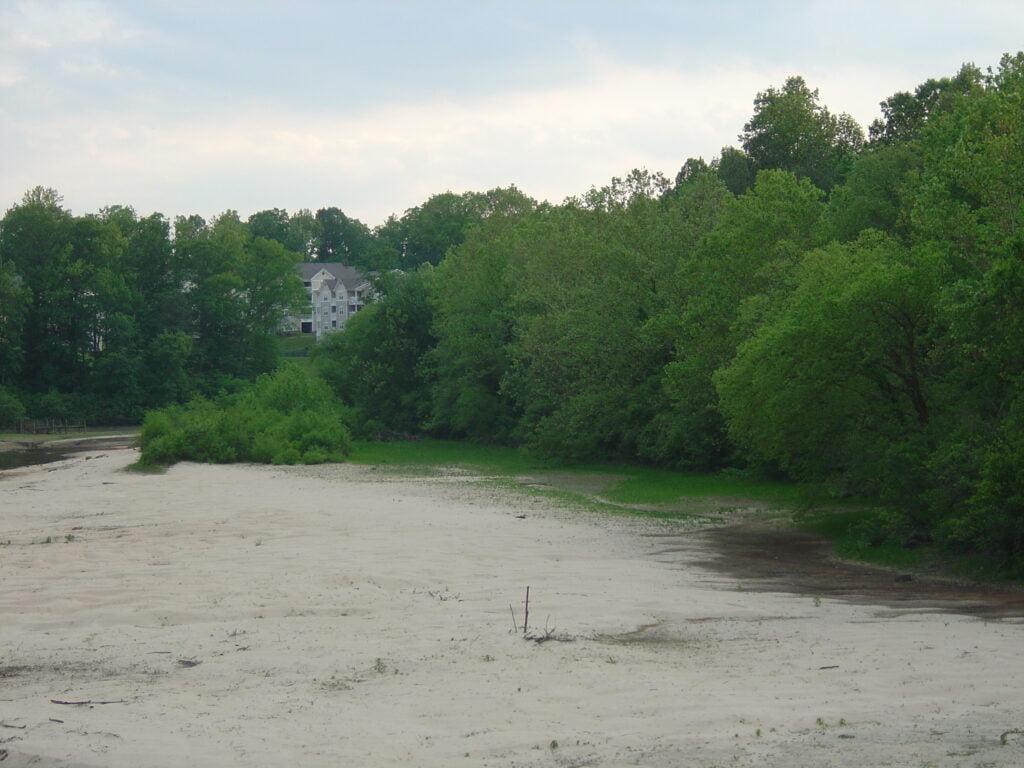 Falling Creek Reservoir Drained